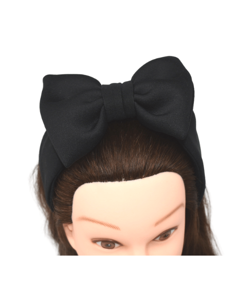 All Blacked Out Bow Headband